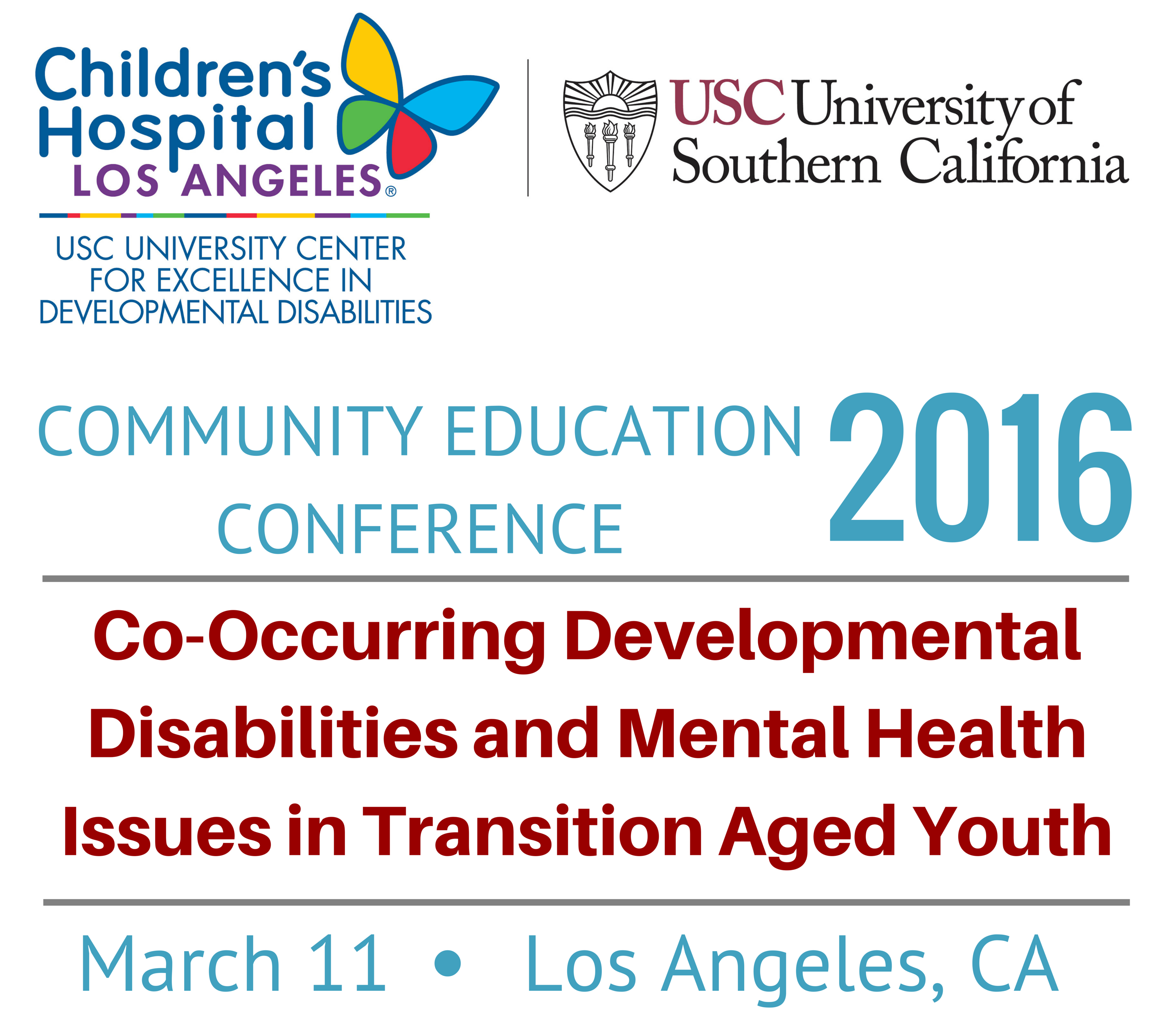 USC UCEDD Community Education Conference 2016 Logo